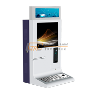 Desktop account inquiry, information kiosk with stainless keyboard