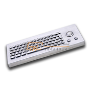 Desktop metal cherry keyboard with trackball