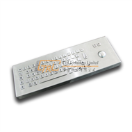 Desktop metal keyboard with trackball