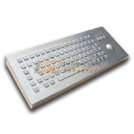 Desktop stainless steel keyboard with trackball IP65 waterproof