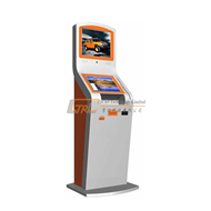Dual displays multimedia & unattended bank payment kiosk