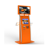 Free standing double screens multimedia / POS payment kiosk