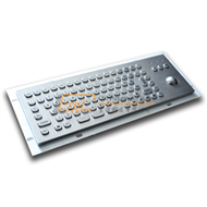 Small Size Industrial Keyboard with Trackball for Info Terminal