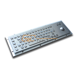 Standard Metal Kiosk Keyboard with Trackball